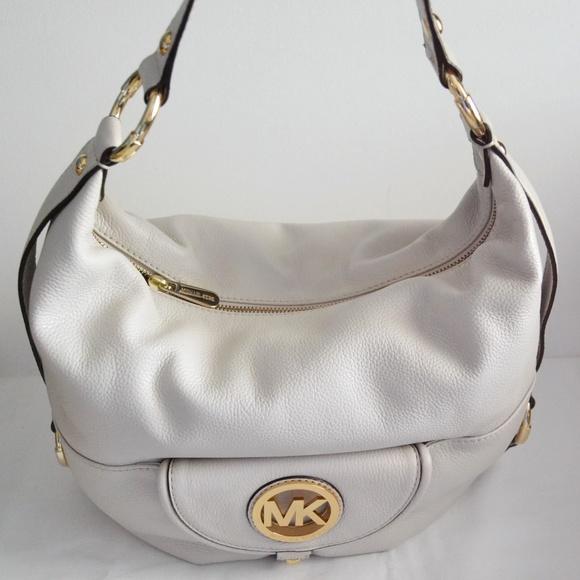 fe26fc415ab6 Michael Kors Fulton Leather Large Shoulder Bag NWT